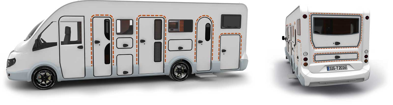 Satisfied tegos customers with Dethleffs caravans and RVs